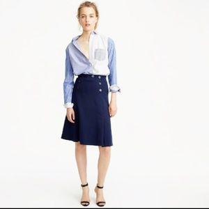 JCrew NWT Sailor Skirt Ponte Knit Navy